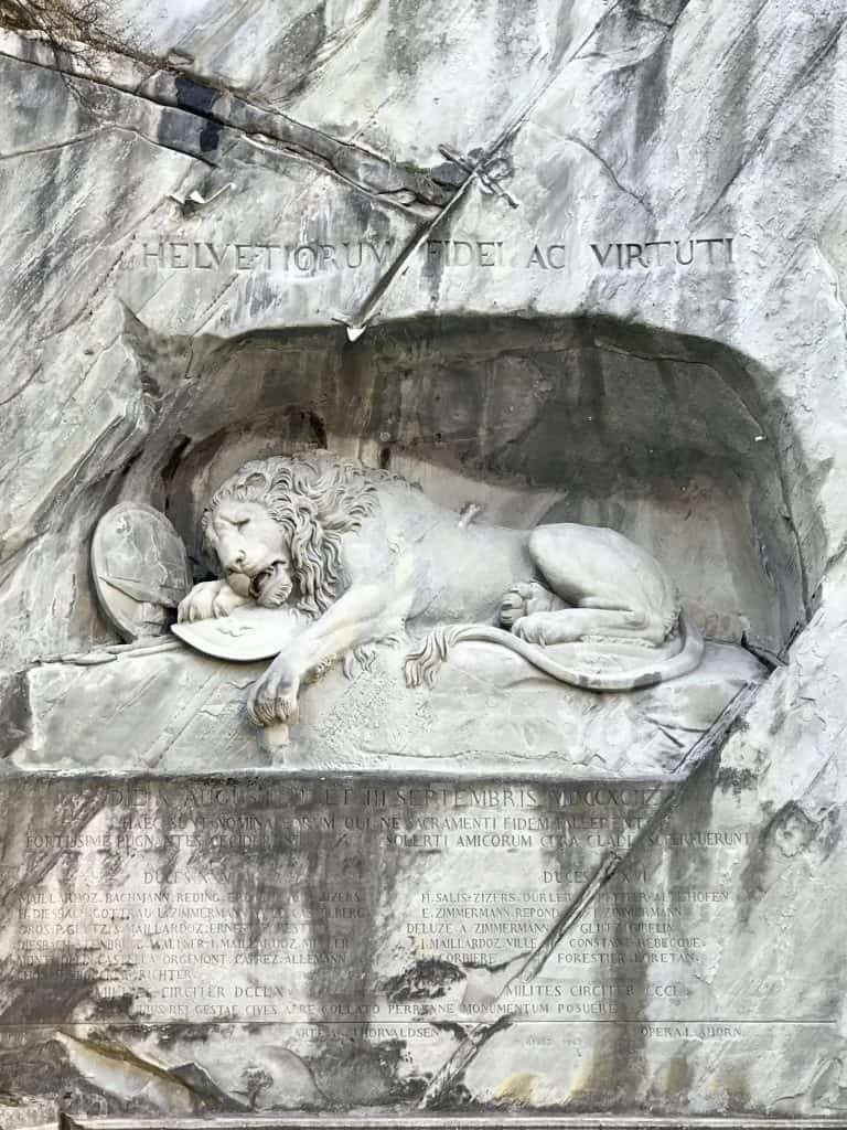 The famous Lion of Lucerne | 24 hours in Luzern, Switzerland | One Girl, Whole World