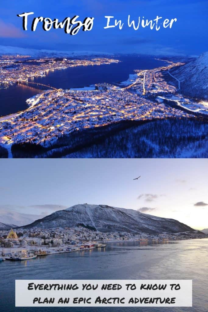 3 Days in Tromsø, Norway During Winter | What to do in Tromsø, planning a winter trip to the Arctic Circle, polar night in Tromsø Norway. How to plan your epic adventure to Tromsø in the winter...dog sledding, the best views, Northern Lights tours & more! #tromso #norway #tromsø #arctic #itinerary #winter #traveltips