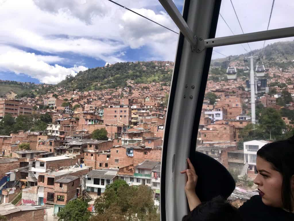 Ride the cable cars of Medellin | A First-Timer's Guide to Medellin Colombia...things to do in Medellin, where to stay and eat, what to do with a weekend in Medellin. This city guide will help you plan an amazing trip to Medellin! | One Girl, Whole World