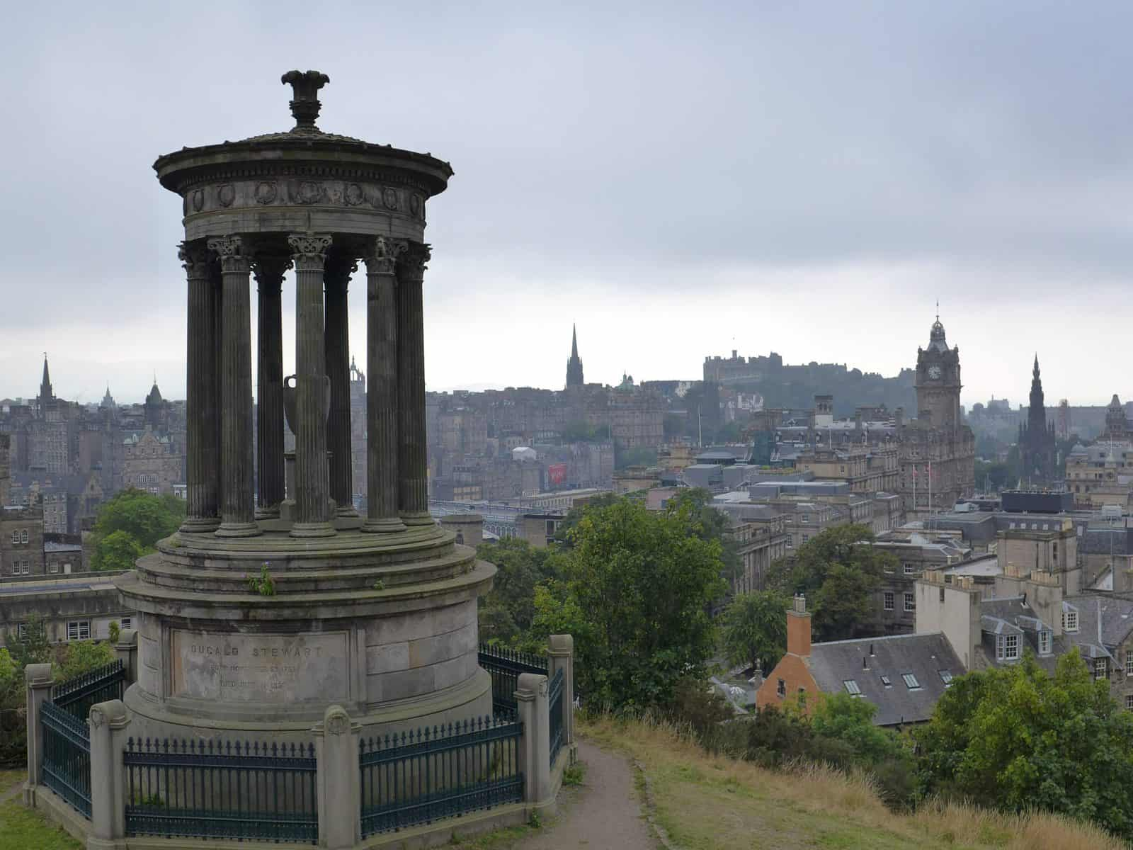 19 of the best places to visit in Scotland - view of Edinburgh