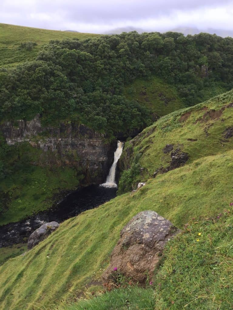 Stop at under-the-radar Lealt Falls | Planning a trip to the Isle of Skye, in Scotland | One Girl, Whole World