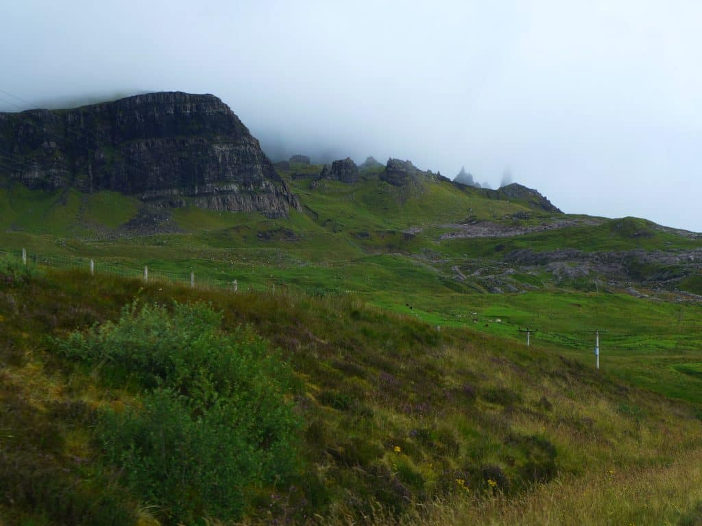 Trying to hike the Old Man of Storr in the fog - a 10-day Scotland itinerary