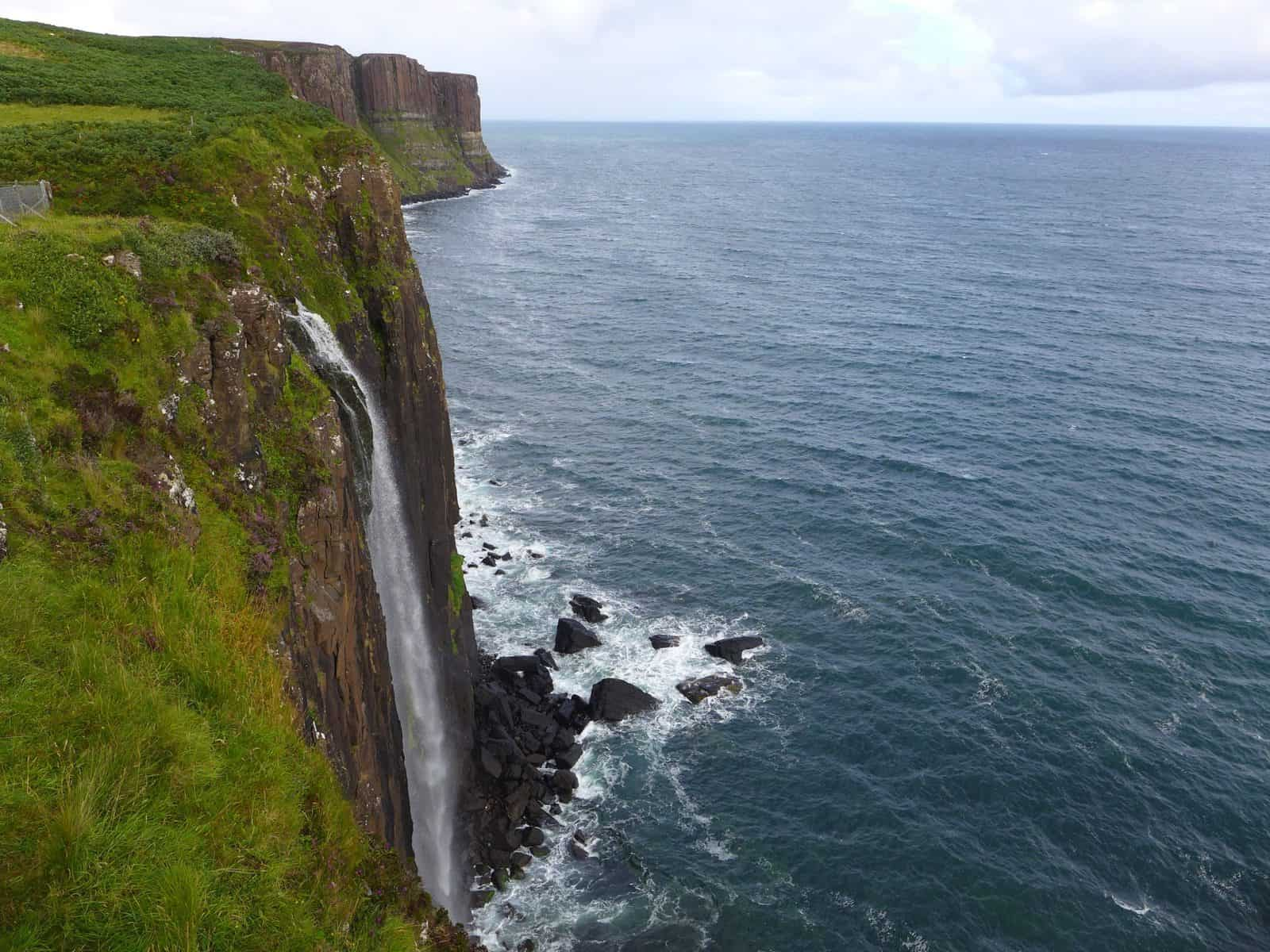 Where to go in Scotland - Kilt Rock and Mealt Falls on Skye