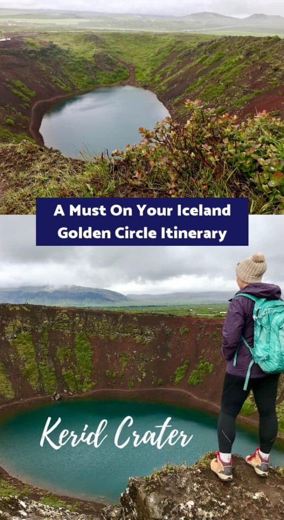 Why Kerid Crater is a must on your Iceland Golden Circle itinerary - Pinterest image
