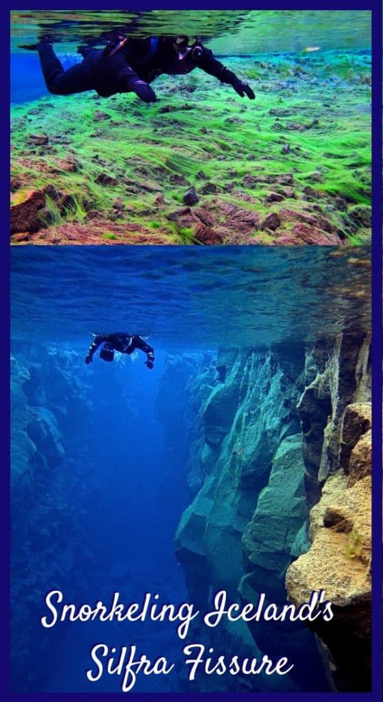 Snorkeling Between Continents in Iceland | All about the Silfra snorkeling adventure, where you can snorkel or scuba dive between tectonic plates. The Silfra Fissure is amazing! Iceland itinerary ideas, what to do in Iceland #bucketlist #silfra #snorkeling #iceland #itinerary #traveltips