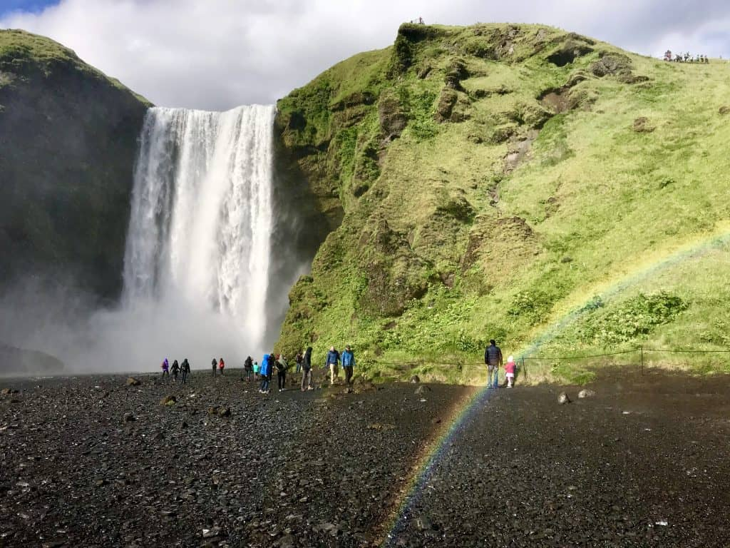 How To Visit Iceland's Skogafoss Waterfall | Tips for planning your visit to Skogafoss, how to get there, how long to spend, and what gear you need! Iceland itinerary ideas, Iceland roadtrip advice #iceland #waterfalls #skogafoss #roadtrip