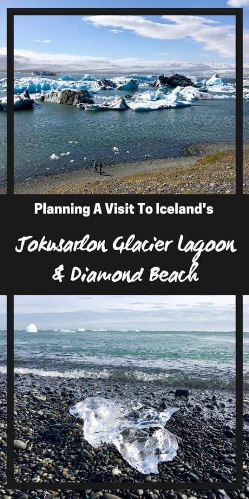 "Visiting Iceland's Famous Jökusárlón Glacier Lagoon & Diamond Beach | How to plan your visit to the glacier lagoon and black ""diamond"" beach, where to stay in Iceland, and other Iceland itinerary advice! #iceland #itinerary #diamondbeach #jokusarlon #glacierlagoon #ringroad #traveltips"