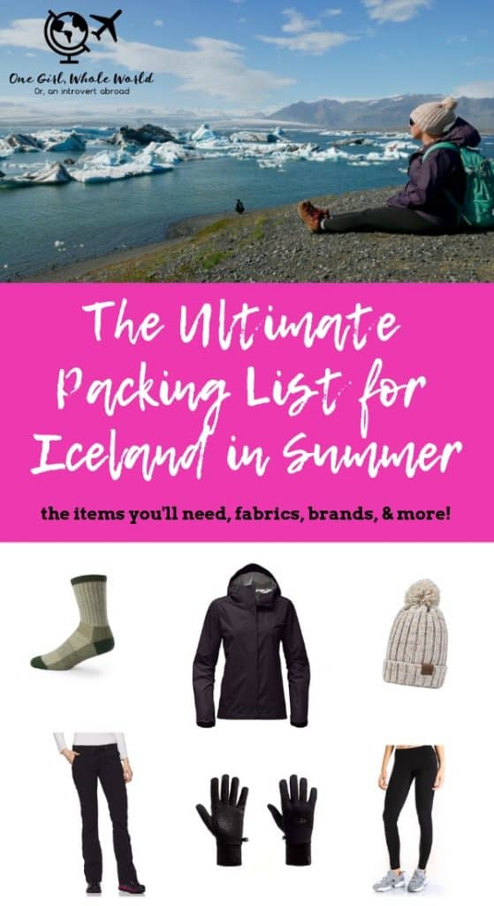 The Ultimate Iceland Summer Packing List | Everything you need for Iceland in summer. I took a trip to Iceland in July and here's all the clothes, gear, and more that you'll need. The best fabrics and brands for Iceland, Norway, and more in summer! #iceland #packinglist #summer #travel #norway