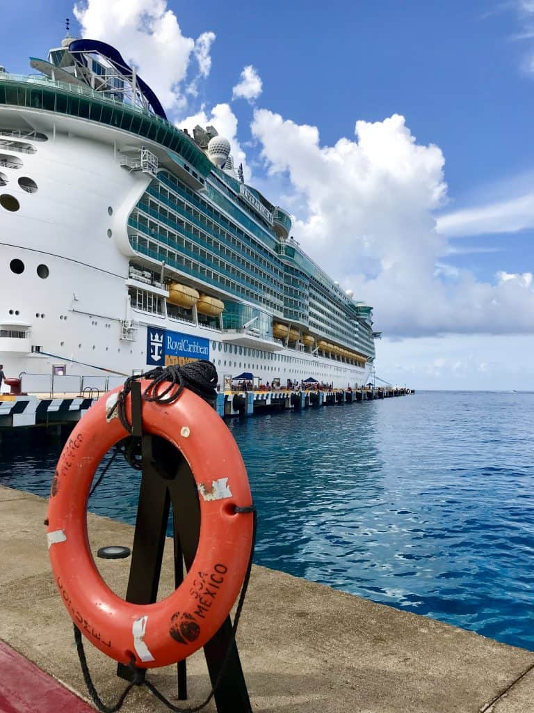 liberty of the seas review, docked in Cozumel