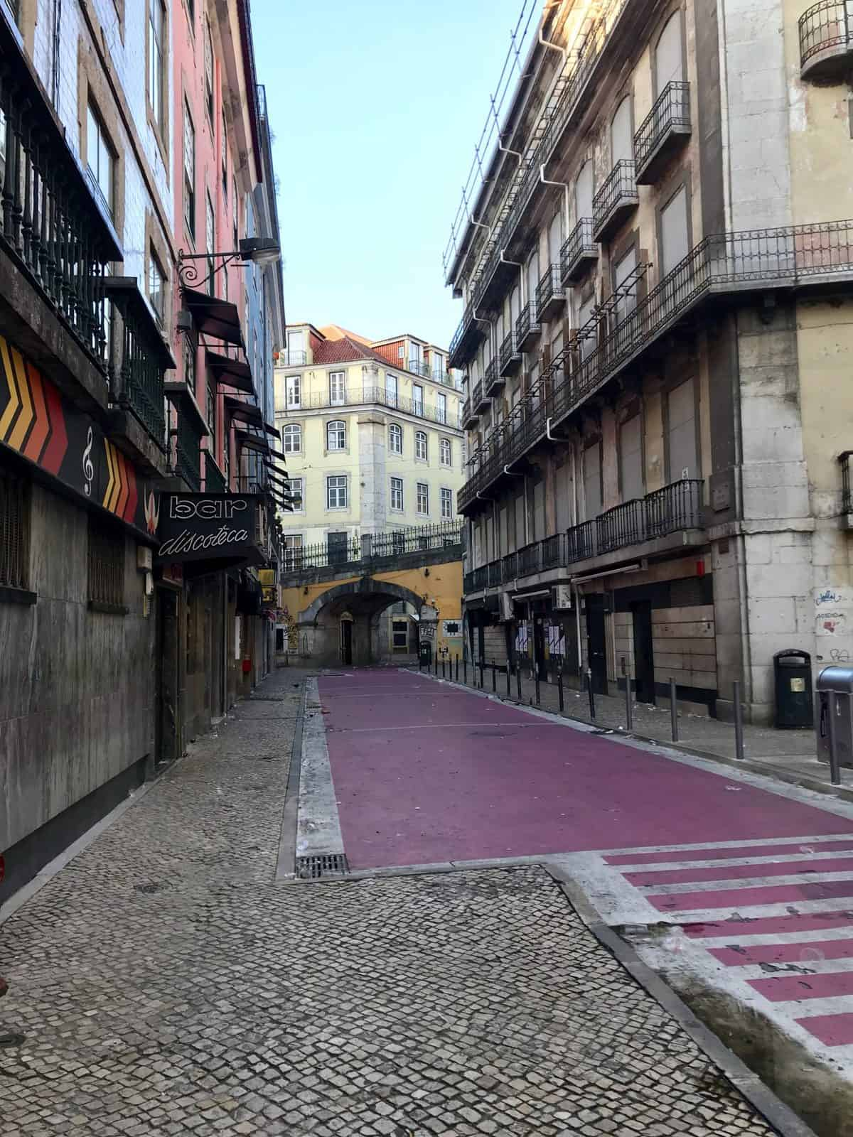 What to do in Lisbon, Portugal - wander the pink street