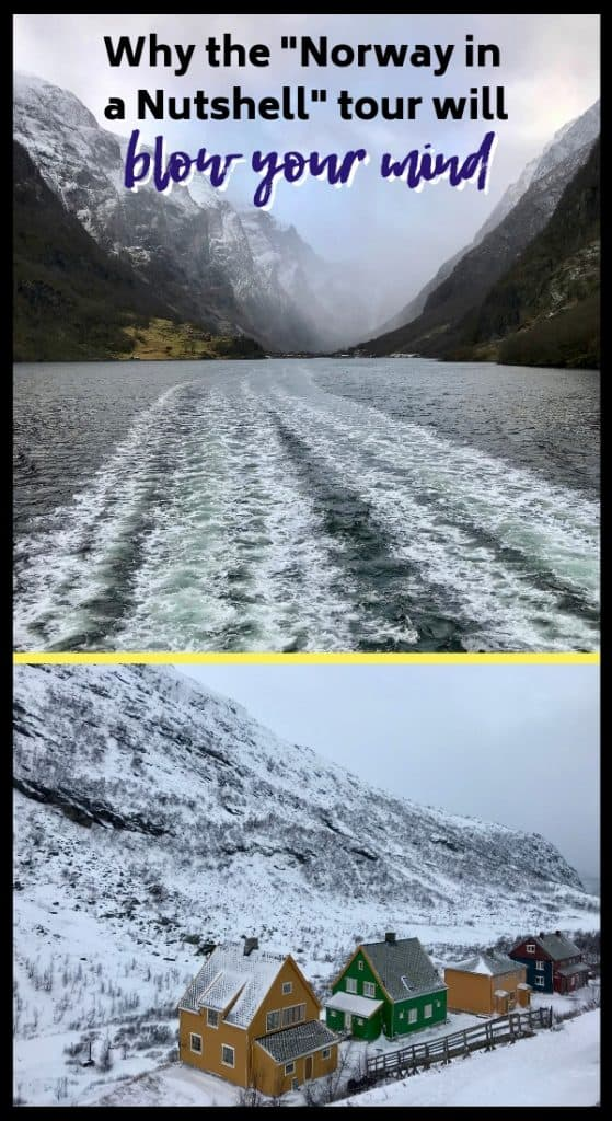 Why the Norway in a Nutshell tour will below your mind! And visiting in winter is awesome. Between scenic trains, buses, and a fjord cruise, you'll get to see some of Norway's best landscapes. If you're visiting Bergen or Oslo, this is a must! #norway #norwayinanutshell #fjord #scandinavia #tour