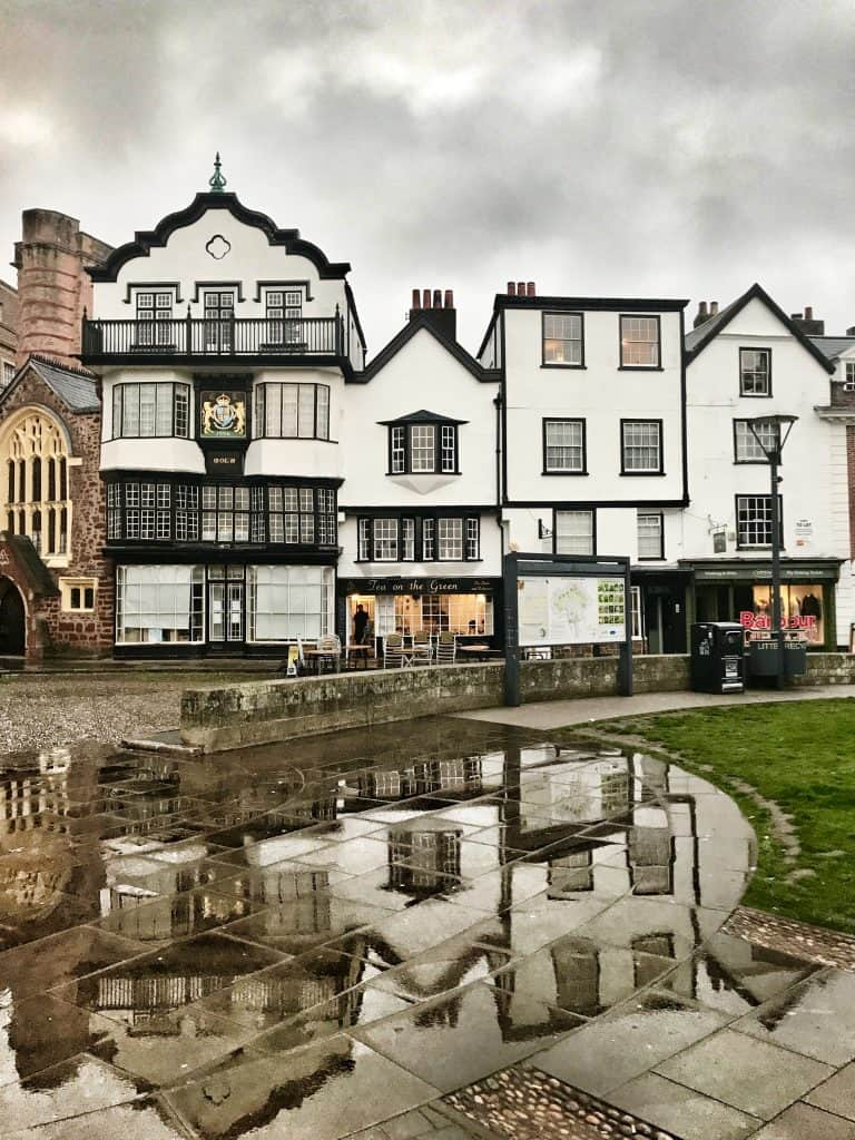 A rainy day in Exeter, in Devon, England