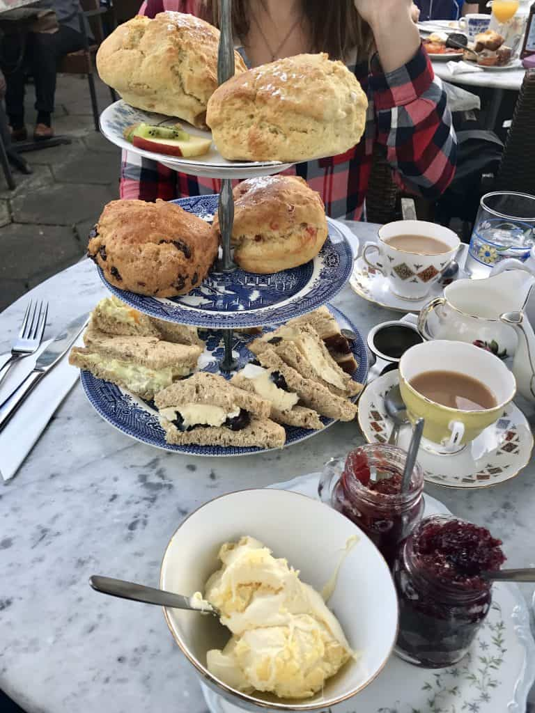 A Devonshire cream tea in Devon, England