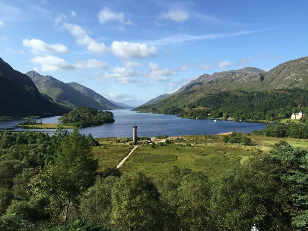 Loch Shiel in Glen Coe, used as Hogwarts in the Harry Potter movies
