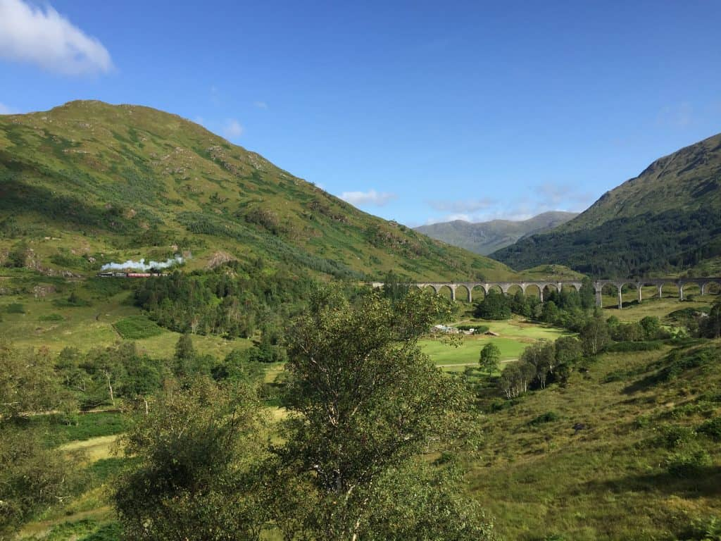 The Jacobite Train crossing the Glenfinnan Viaduct...used as the Hogwarts Express