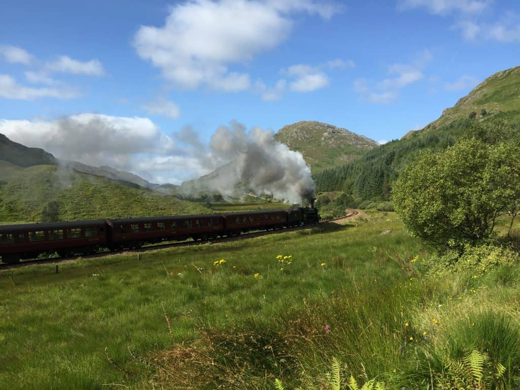 The Glenfinnan Viaduct & Jacobite train (aka Hogwarts Express)...plus another iconic Harry Potter movie view over Loch Shiel