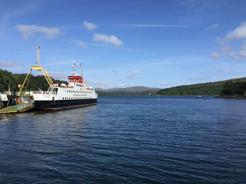 Taking the ferry from Lochaline to Fishnish