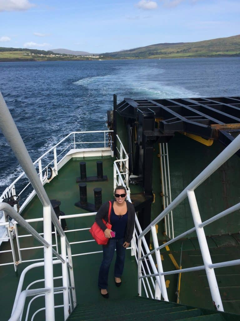 Taking the ferry from the mainland at Lochaline to Fishnish on the Isle of Mull in Scotland