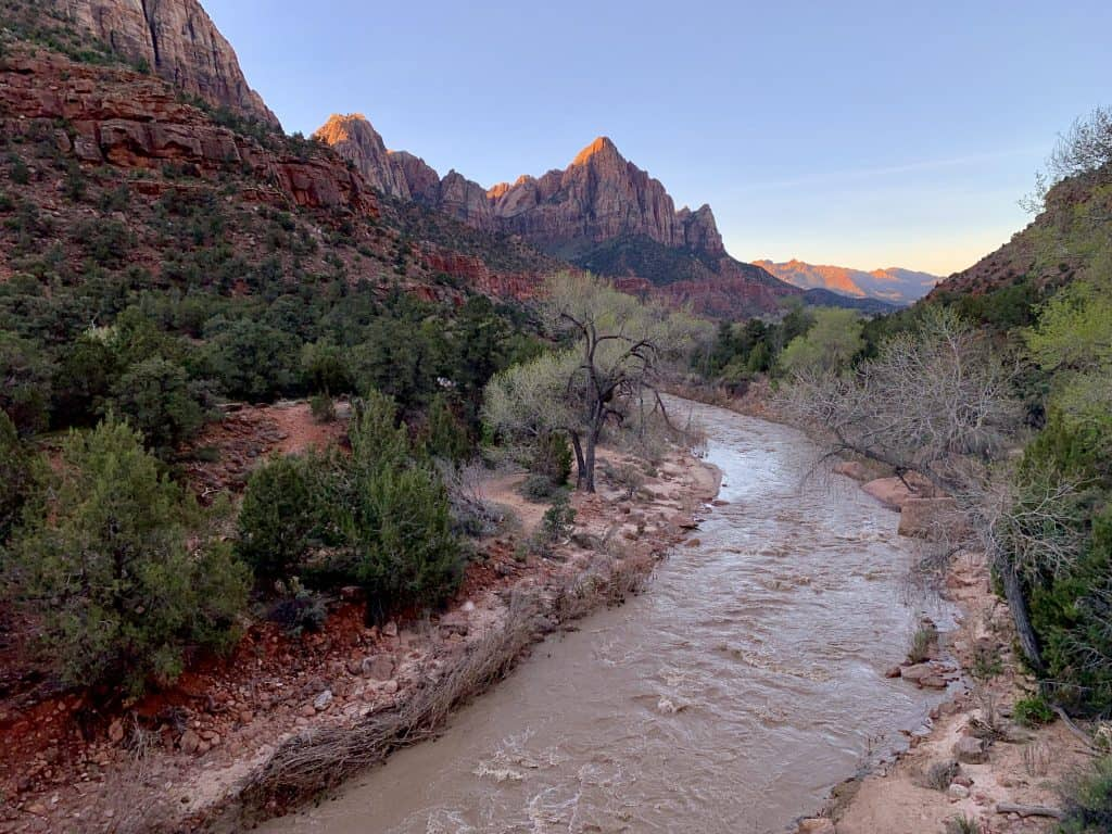 Things to do in Zion National Park with just 2 days - watch the sunrise over the Watchman