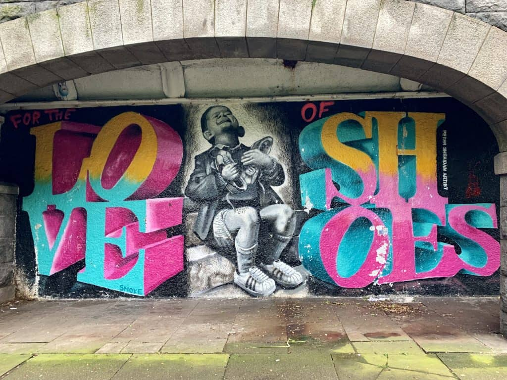 Street art in Aberdeen's Union Terrace Gardens