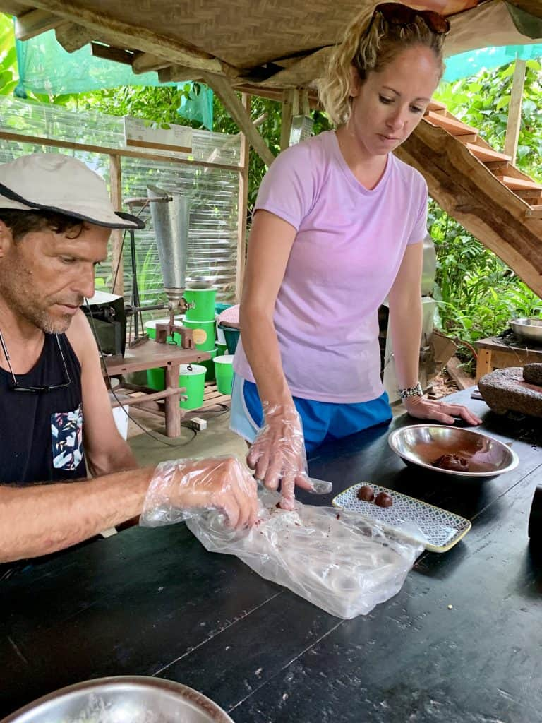 Why a Chocolate Tour in Costa Rica is a Must - molding our chocolate truffles