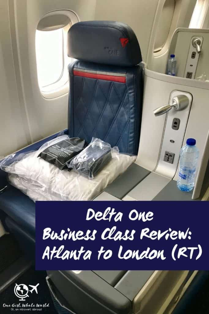 Delta One review business class - Pinterest overlay