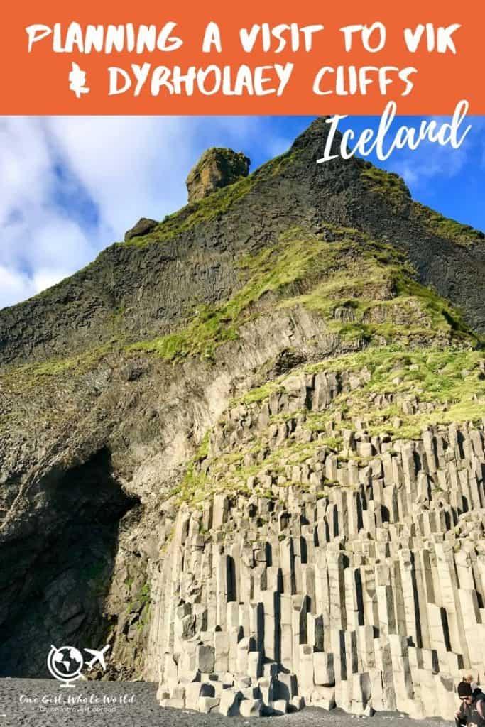 reynisfjara or vik beach - Pinterest overlay
