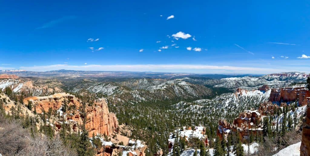 A panorama of Farview Point in Bryce Canyon
