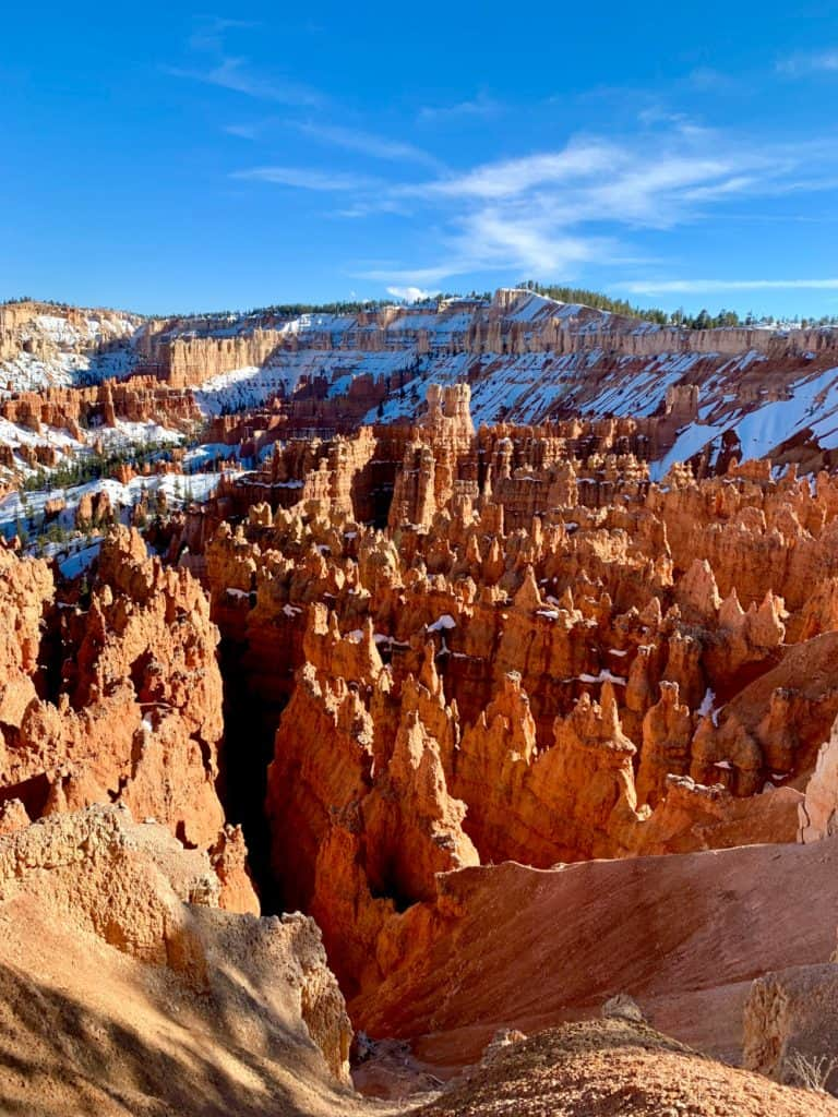 Hoodoo formations at Bryce Canyon's Sunset Point