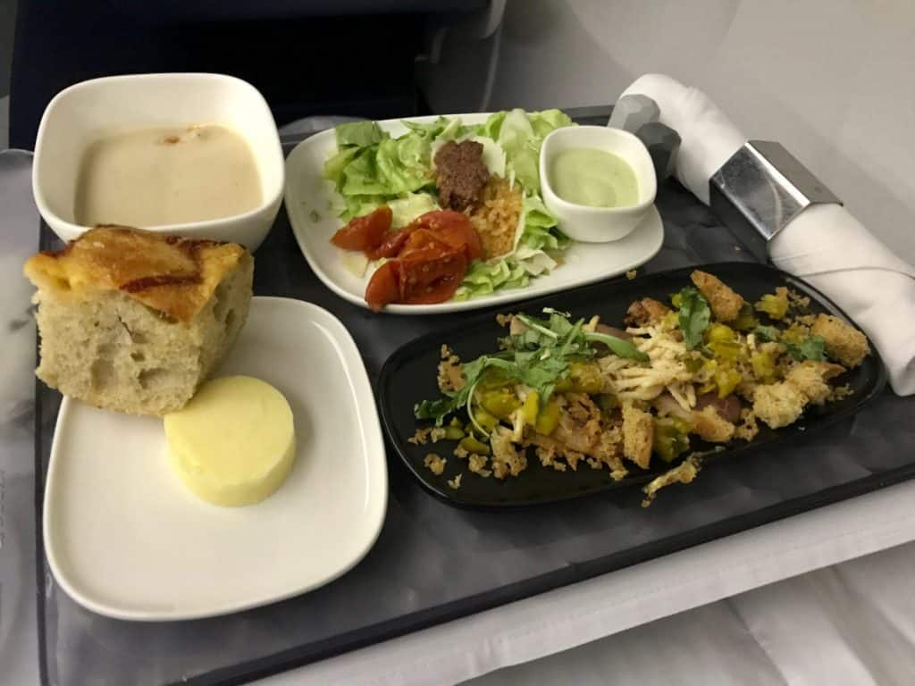 A nice meal in Delta business class