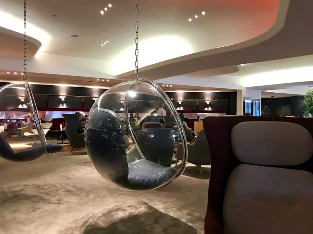 Virgin Atlantic lounge in Heathrow, a perk of Delta One