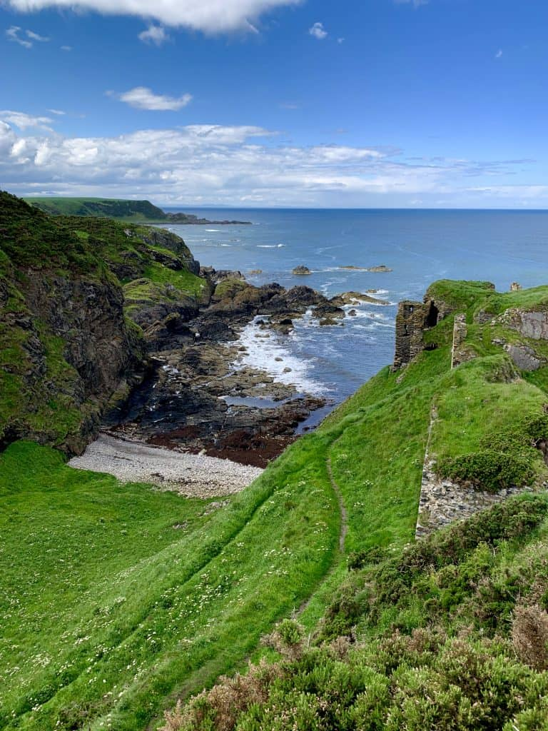 The path down to Findlater Castle...beautiful but not safe!