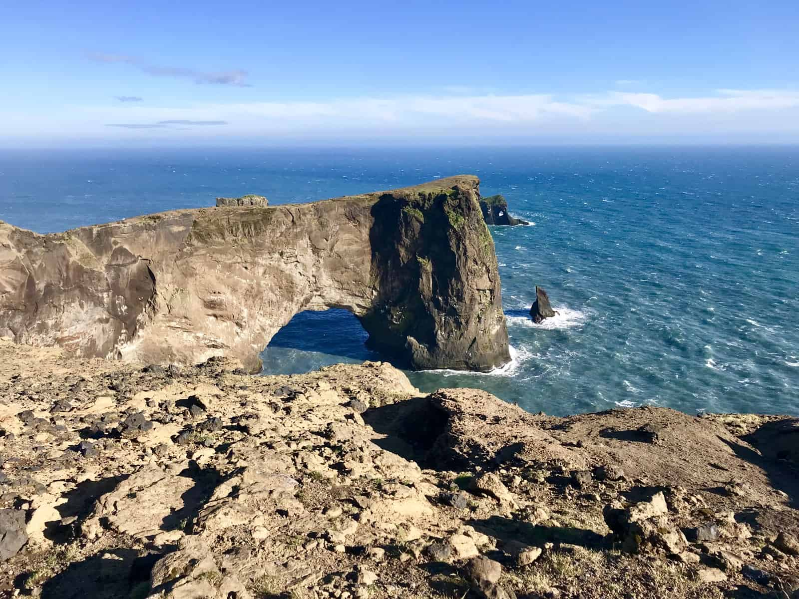 What to do in Iceland in summer - the Dyrholaey Cliffs near Vik give you amazing views