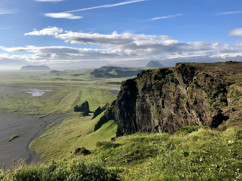 The view from Dyrholaey Cliffs in Iceland