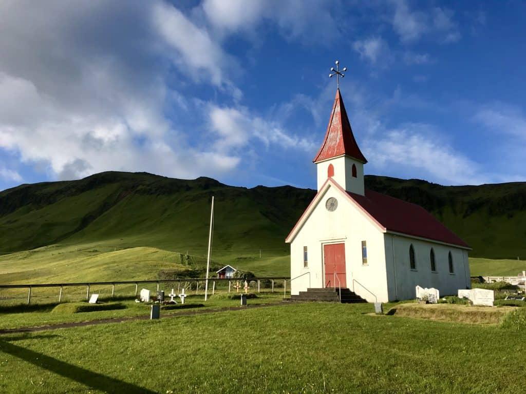 Beautiful and serene Vik church