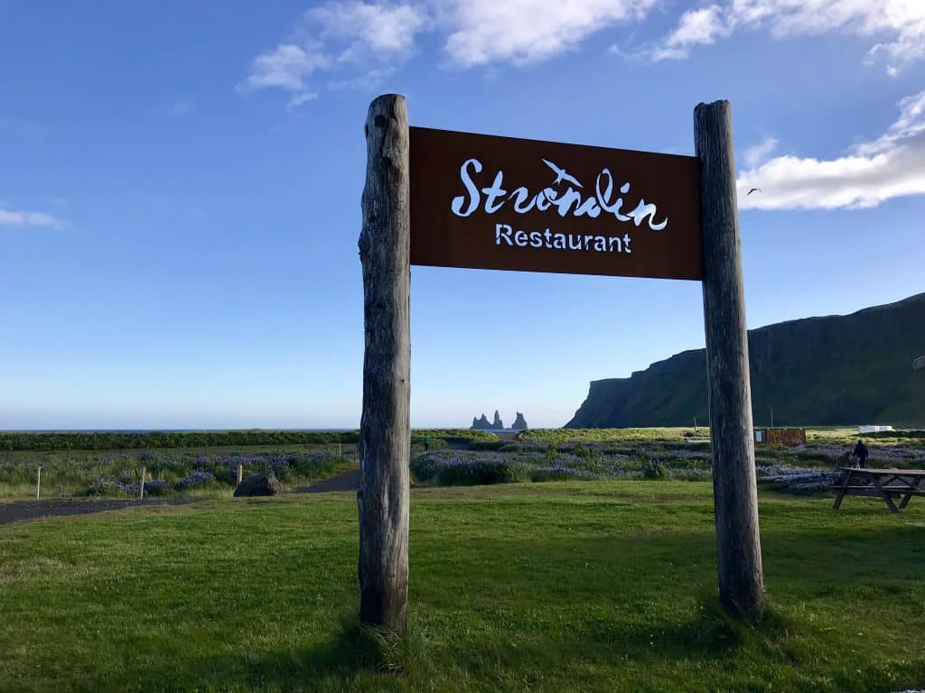 strondin restaurant with its view of vik beach