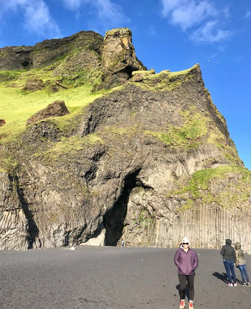 Surviving the wind at Reynisfjara, Iceland's famous black sand beach