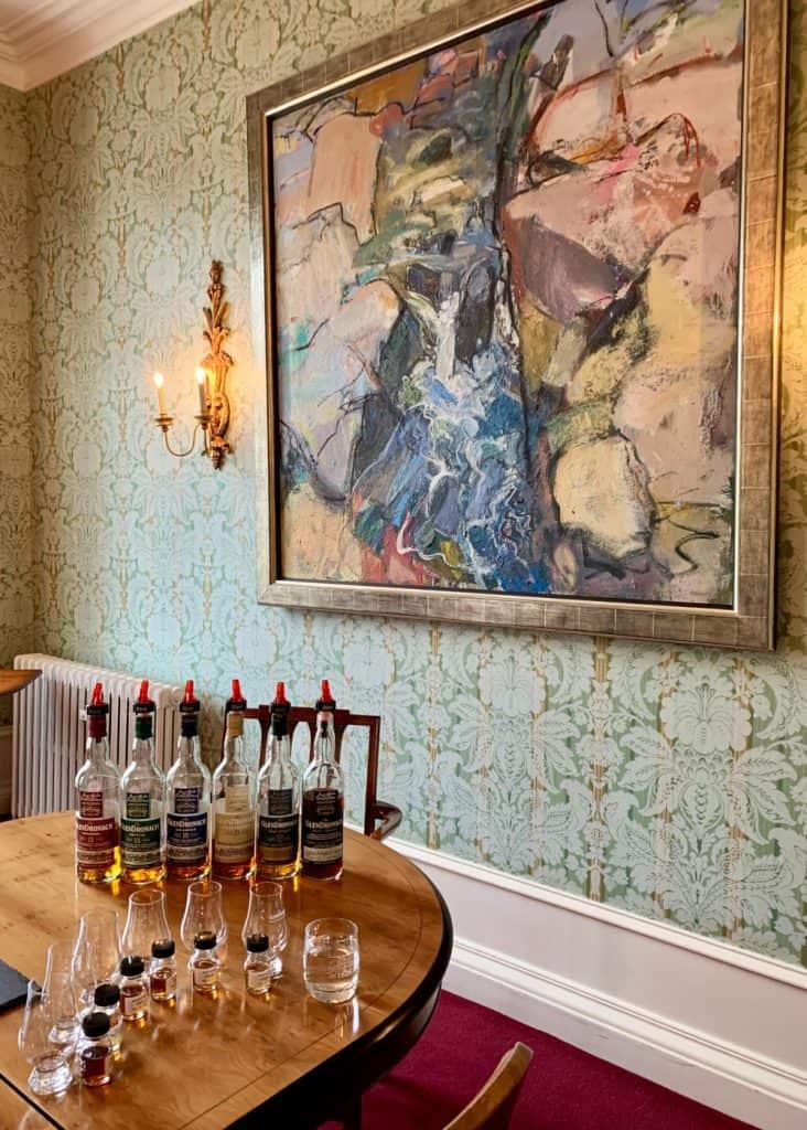 A scotch whisky tasting at Glendronach - visiting scotch distilleries