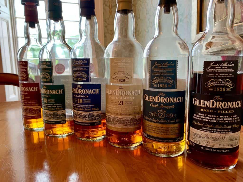 Tasting Glendronach scotch whisky, beautiful sherried single malts