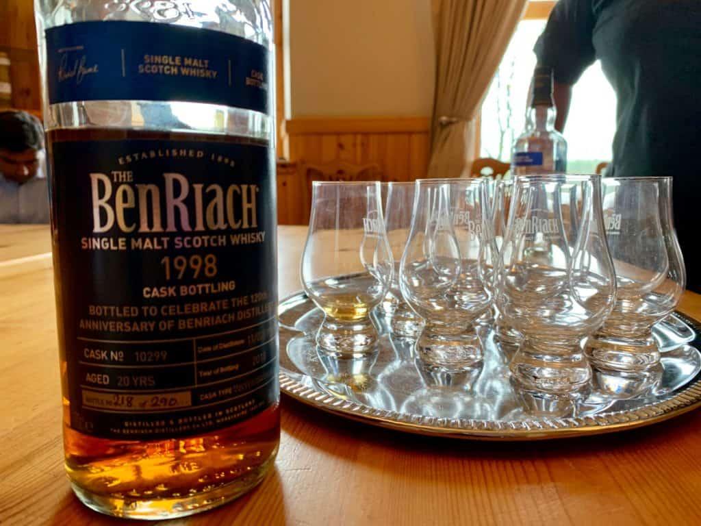 A scotch tasting at BenRiach...visiting distilleries in Scotland
