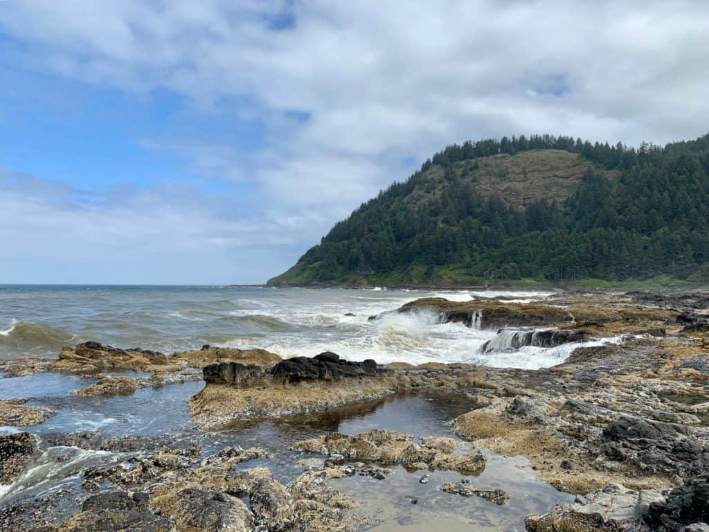 Beautiful Oregon coast in Cape Perpetua area