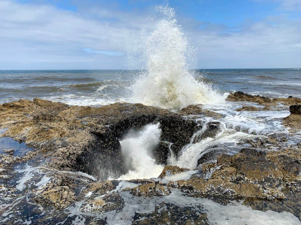 Visit Thor's Well at high tide for the most action