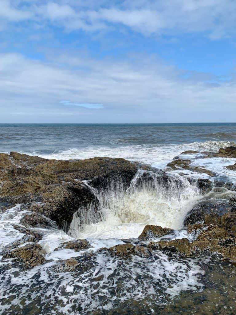 Watching the water sink into Thor's Well
