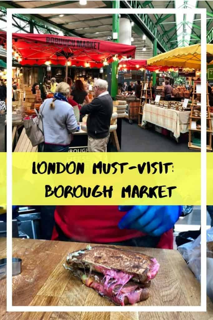 London Must-Visit: Borough Market - pinterest overlay