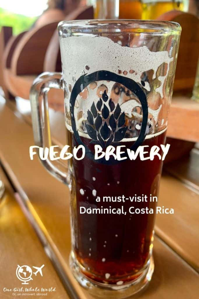 Fuego Brewery in Dominical, Costa Rica - Pinterest overlay