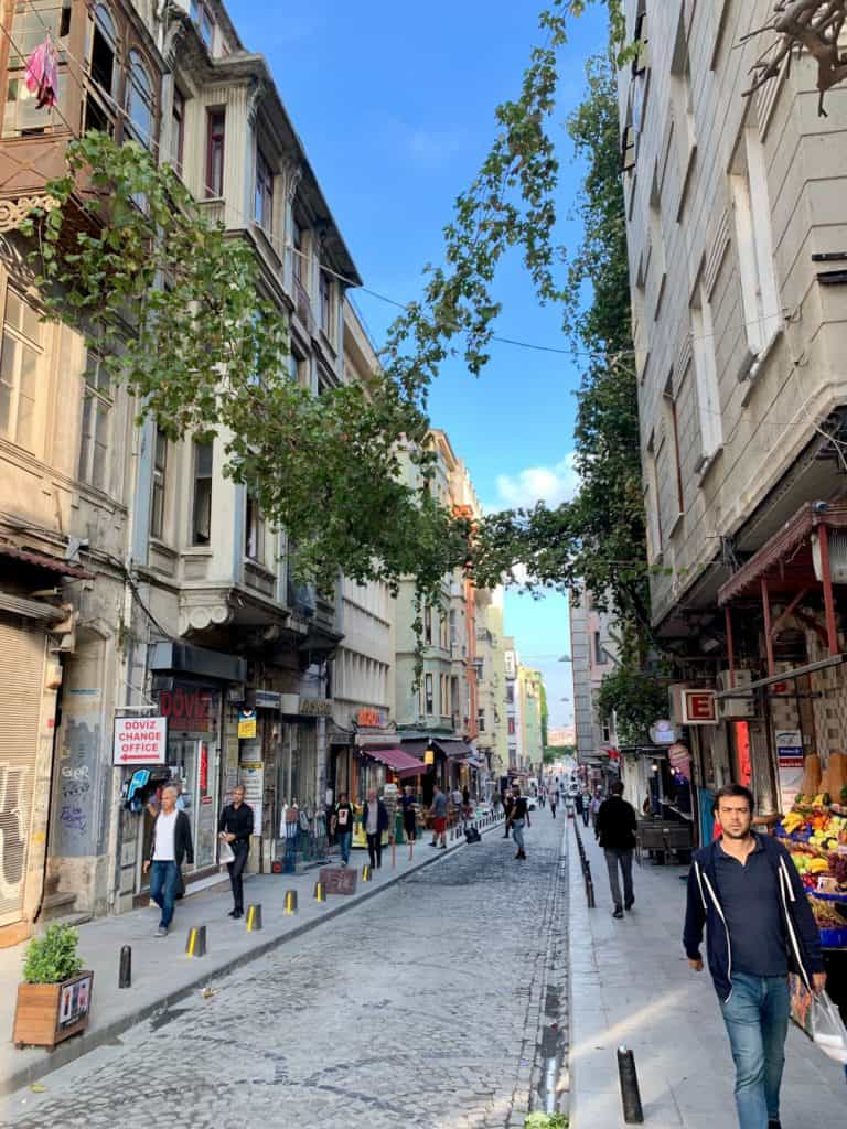Walking the streets of Beyoglu to find the best coffee shops in Istanbul