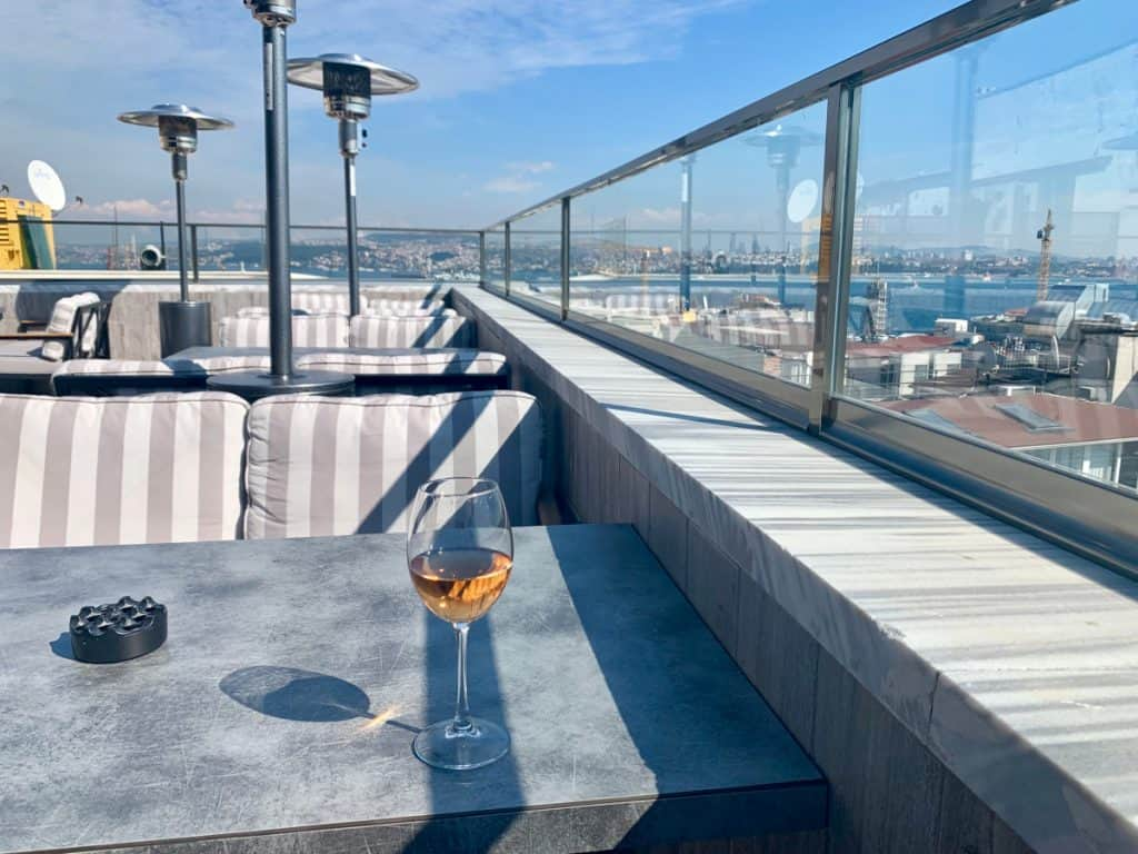 Consider a rooftop bar when looking for where to stay in Istanbul