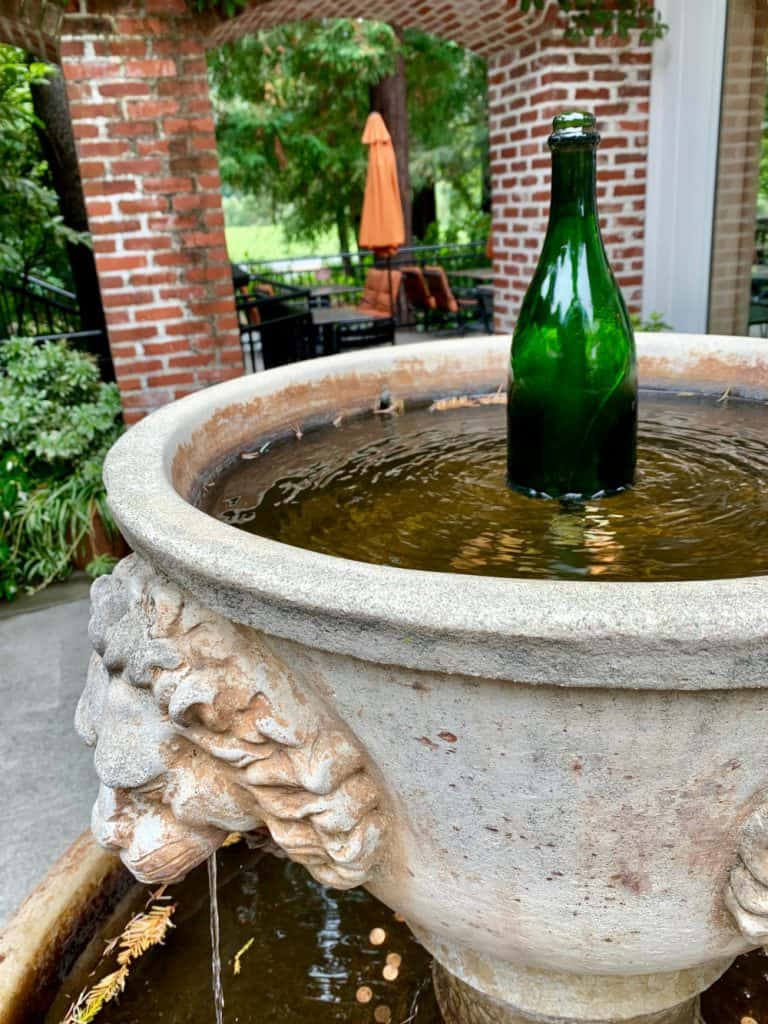 Sonoma Valley wineries - a cute fountain at Korbel