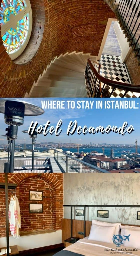 Where to Stay in Istanbul - Hotel DeCamondo - Pinterest overlay