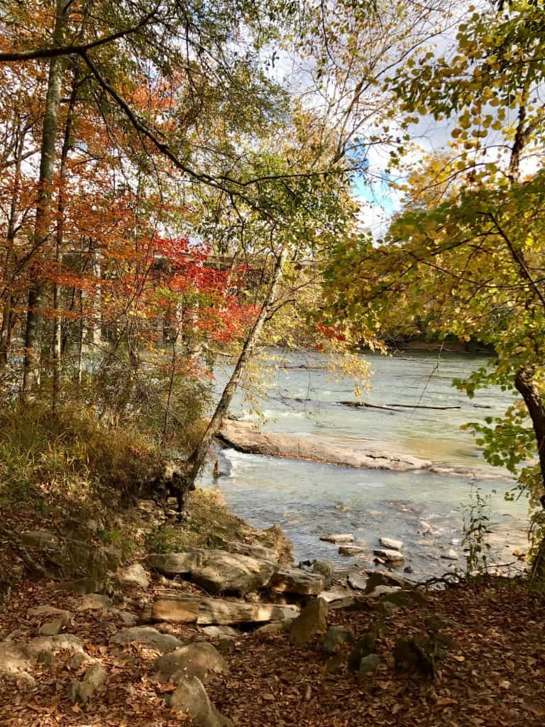 A walk along the Chattahoochee River - Atlanta running trails